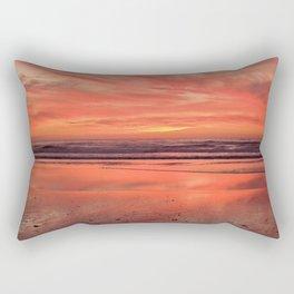 Sky on  Fire - At the Beach Rectangular Pillow