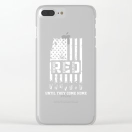 R.E.D - Remember Everyone Deployed Patriotic Clear iPhone Case