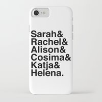 orphan black iPhone & iPod Cases featuring Orphan Black by Elanor Jarque