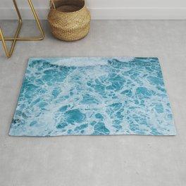 Ocean Waves Crashing Rug
