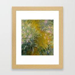 The Path through the Irises by Claude Monet Framed Art Print