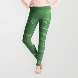 Library Card 23322 Negative Green Leggings