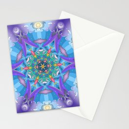 Mermaid mandala Stationery Cards