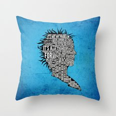 Typography Marla Singer Throw Pillow