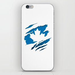 Canadian Blue Flag Pride iPhone Skin