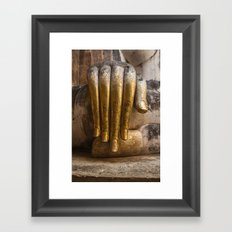 Golden Hand of a Buddha in Wat Sri Chum Thailand Framed Art Print