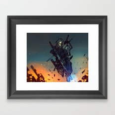 Heavy Fire Framed Art Print