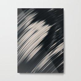 Slight. Black and White Abstract Metal Print