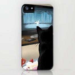 Watching TV iPhone Case