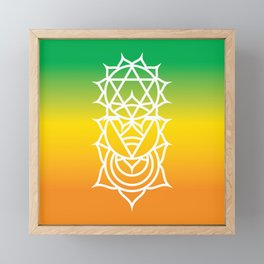 Sacral, Solar Plexus & Heart Chakra Intersection Framed Mini Art Print