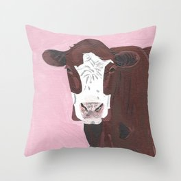 A Cow Named Darwin Throw Pillow