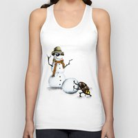 snowman Tank Tops featuring Snowman by Anna Shell