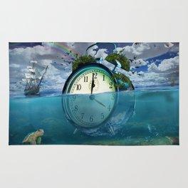 Floating Clock Rug