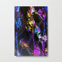 Neon Flowers in the Night Metal Print
