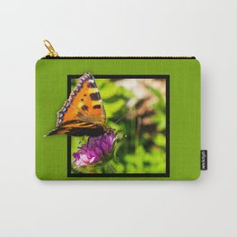 Butterly on the flower 3D pop out of frame effect Carry-All Pouch