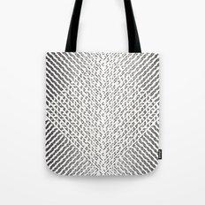 Stripes In Black & White Tote Bag