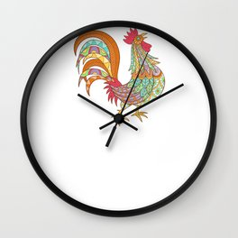 Life Is Better With Chickens Around Funny Animals Wall Clock