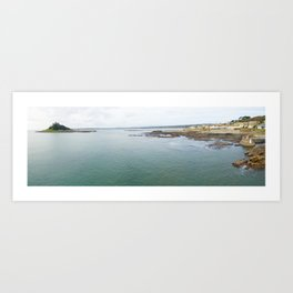 St Michaels Mount bay aerial Art Print