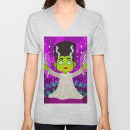 Bride of Frankenstein Unisex V-Neck