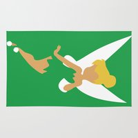 tinker bell Area & Throw Rugs featuring Tinker Bell by Adrian Mentus