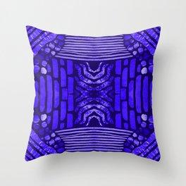 midnight blue textural Throw Pillow