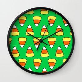 Green Candy Corn Wall Clock
