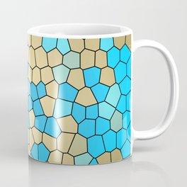 Turquoise and Gold Mosaic Coffee Mug