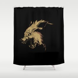 Crying Wolf Shower Curtain
