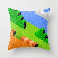Mario World 1-1 Throw Pillow