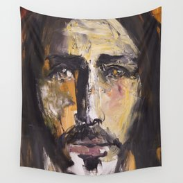 Christ with yellow eyes Wall Tapestry