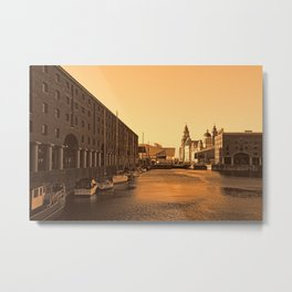 Albert Dock And the 3 Graces Metal Print