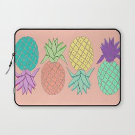 pineapple large coral Laptop Sleeve