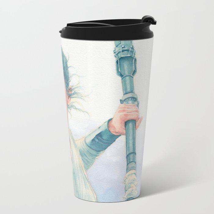 Rey watercolor Metal Travel Mug