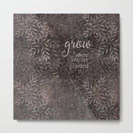 leafy grow Metal Print