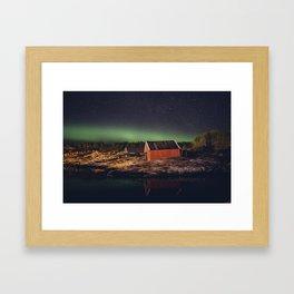 Aurora in the sky Framed Art Print