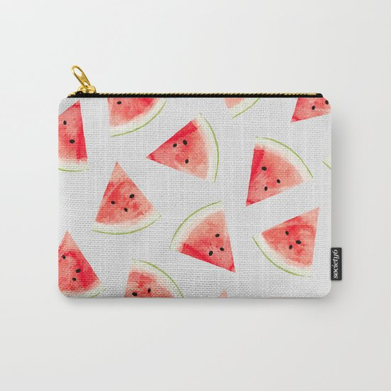 Watercolor Watermelon Pattern #society6 #buyart #decor Carry-All Pouch