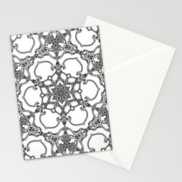 Victorian Inspired Black and White Stationery Cards
