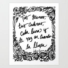 Quote, original (2) Art Print