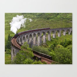 A train journey is another world. Canvas Print