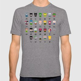 Pixel Supervillain Alphabet 2 T-shirt