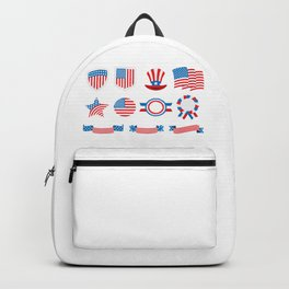 Proud To Be American National Presidents Day Backpack