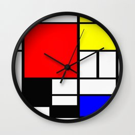 Mondrian Art Wall Clock