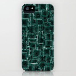 The Maze - Teal iPhone Case