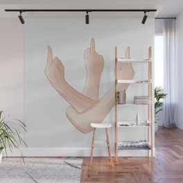 Middle finger for everyone Wall Mural