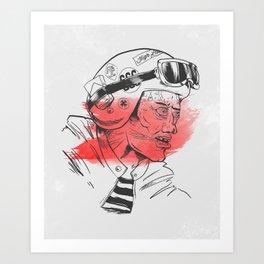Biker Art Print