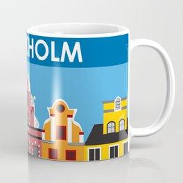 Stockholm, Sweden - Skyline Illustration by Loose Petals Coffee Mug