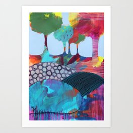 Day 6 In The Woods, Contemporary Abstract Landscape Art Print