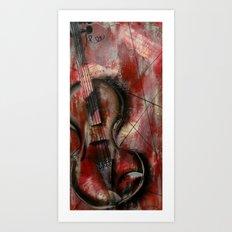 The Stroke of Music Art Print
