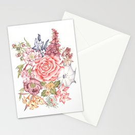 Agatha Christie Rose surrounded by Poison Plants Stationery Cards