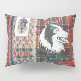 Scottish Collie, Lad, Lace & Tartan Plaid by Nettwork2Design - Nettie Heron-Middleton Pillow Sham